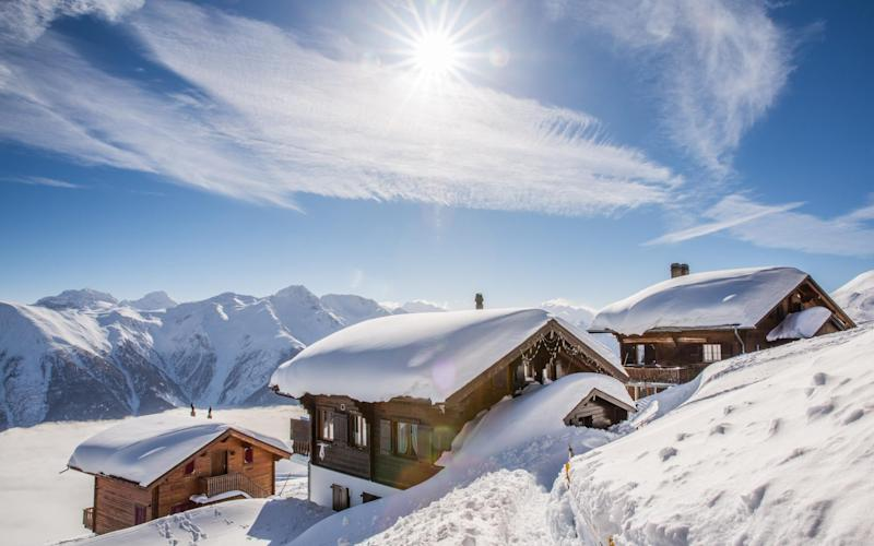Catered ski chalets have long been a favourite with British skiers - Getty