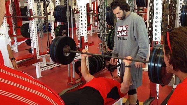 Mark Hudspeth pumps iron
