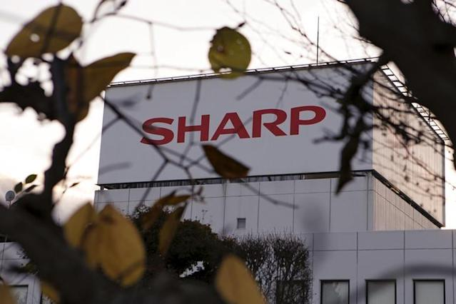 The logo of Sharp Corp is seen at Tochigi plant in Yaita, north of Tokyo, November 19, 2015. REUTERS/Reiji Murai/Files