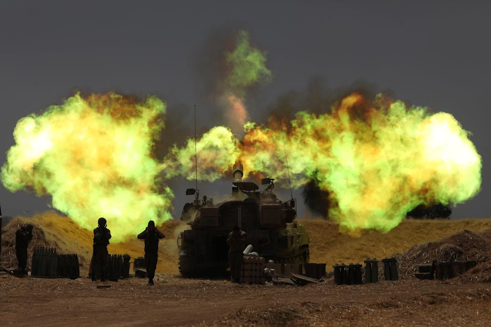 Israeli artillery in action as the escalation continues between Israeli army and Hamas at the Gaza BorderEPA