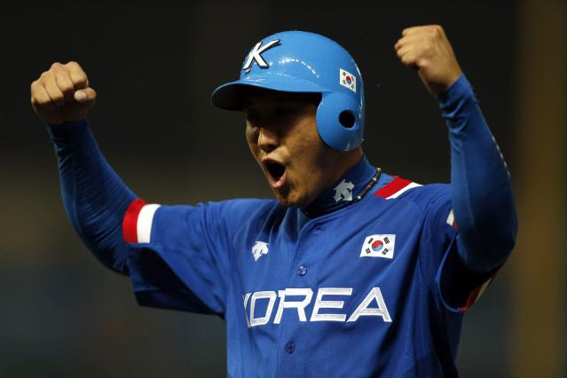 Jae-gyun Hwang might not make it to the majors until 2017. (REUTERS/Issei Kato)
