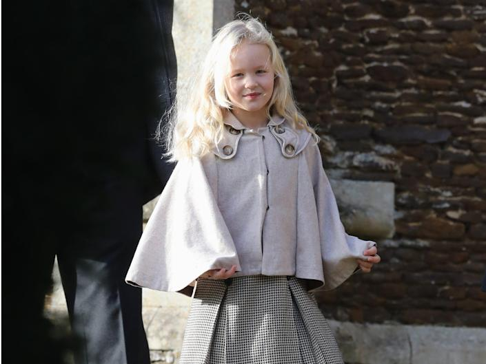 Savannah Phillips attends a Christmas Day church service at Sandringham.