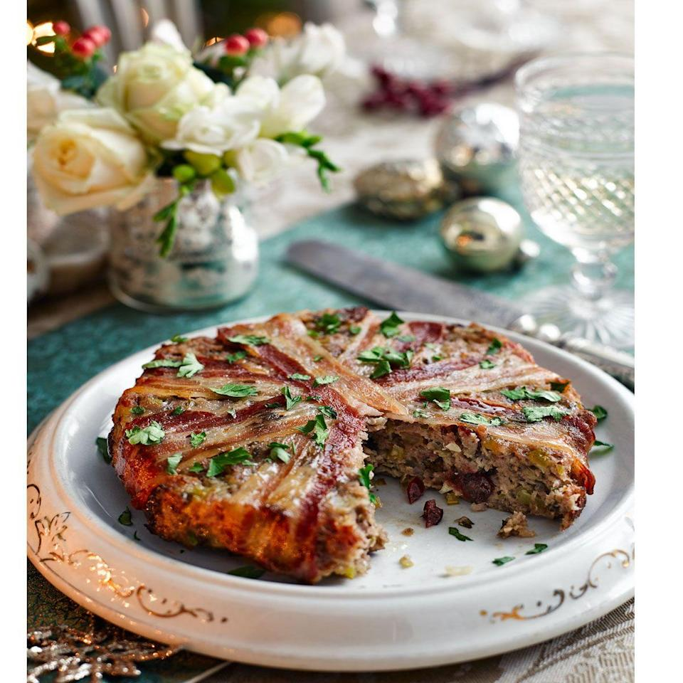 """<p>This quantity makes one 20.5cm (8in) 'cake' of stuffing. The same quantity of stuffing can also be used to stuff your bird, so if you want both a cake and stuffed turkey, you'll need to make double.</p><p><strong>Recipe: <a href=""""https://www.goodhousekeeping.com/uk/christmas/christmas-recipes/a558098/maple-pecan-stuffing-cake/"""" rel=""""nofollow noopener"""" target=""""_blank"""" data-ylk=""""slk:Maple pecan stuffing cake"""" class=""""link rapid-noclick-resp"""">Maple pecan stuffing cake</a></strong></p>"""