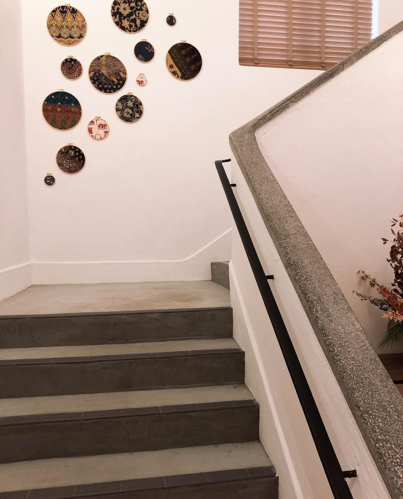 The terrazzo handrails and feature walls give an insight on the history of the building. (PHOTO: Sheila Chiang/Yahoo Lifestyle Singapore)