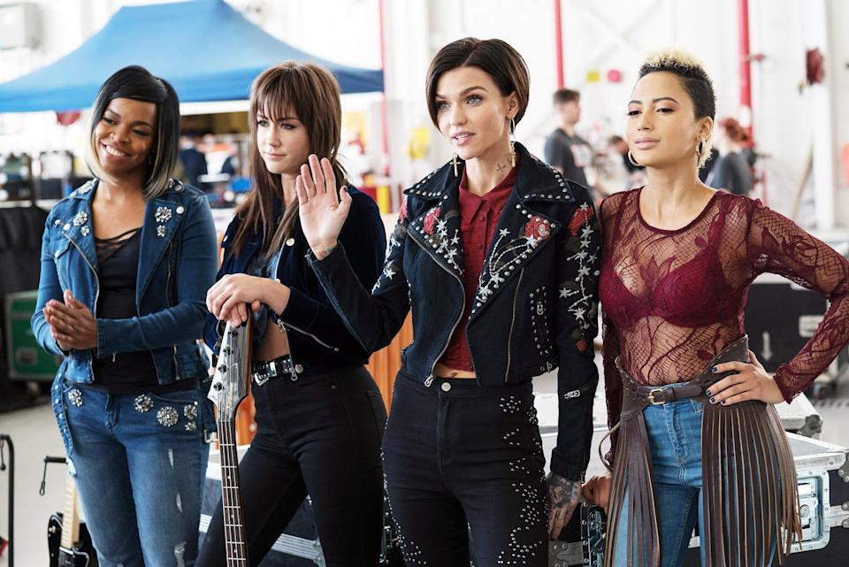 Ruby Rose fronts the band Evermoist in <em>Pitch Perfect 3.</em> (Photo: Quantrell D. Colbert/Universal Pictures/courtesy Everett Collection)