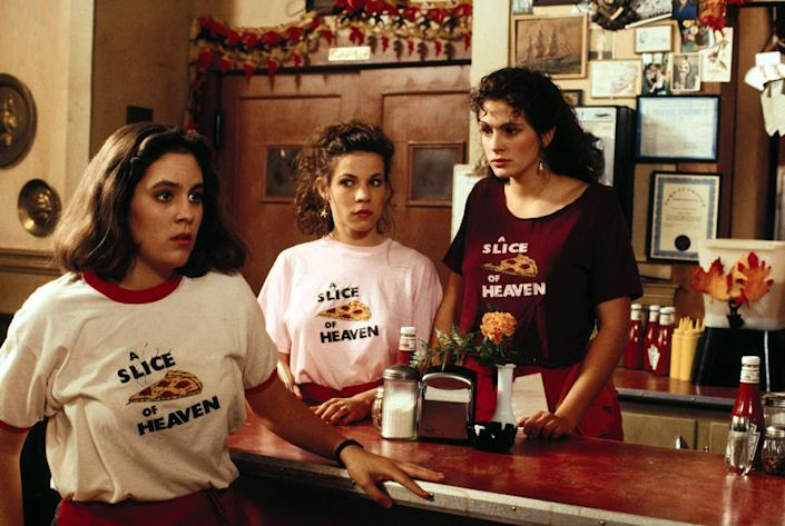 """<p>This slice (ha ha) of life coming of age classic is best known today as the indie darling that launched Julia Roberts' career, but it's really an ensemble dramedy about a group of small-town female friends figuring out adulthood. Perfect for a more mature sleepover movie, or a watch with your (cool) mom.</p> <p><a href=""""https://www.netflix.com/title/60003603"""" rel=""""nofollow noopener"""" target=""""_blank"""" data-ylk=""""slk:Available to stream on Netflix"""" class=""""link rapid-noclick-resp""""><em>Available to stream on Netflix</em></a></p>"""