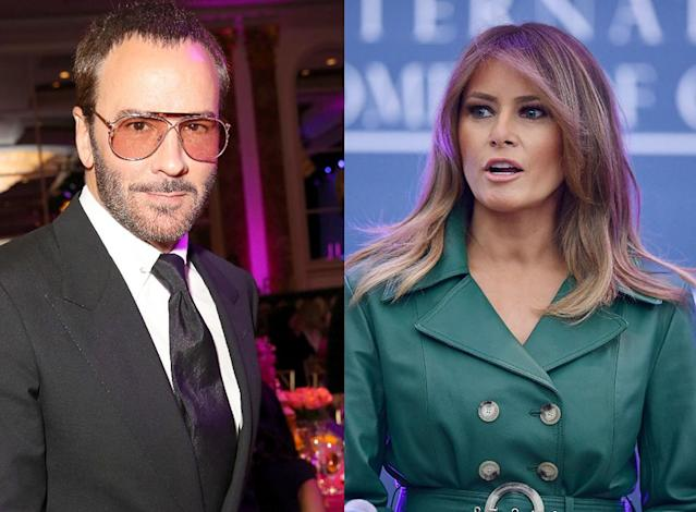 Tom Ford and Melania Trump. (Photo: Getty Images)