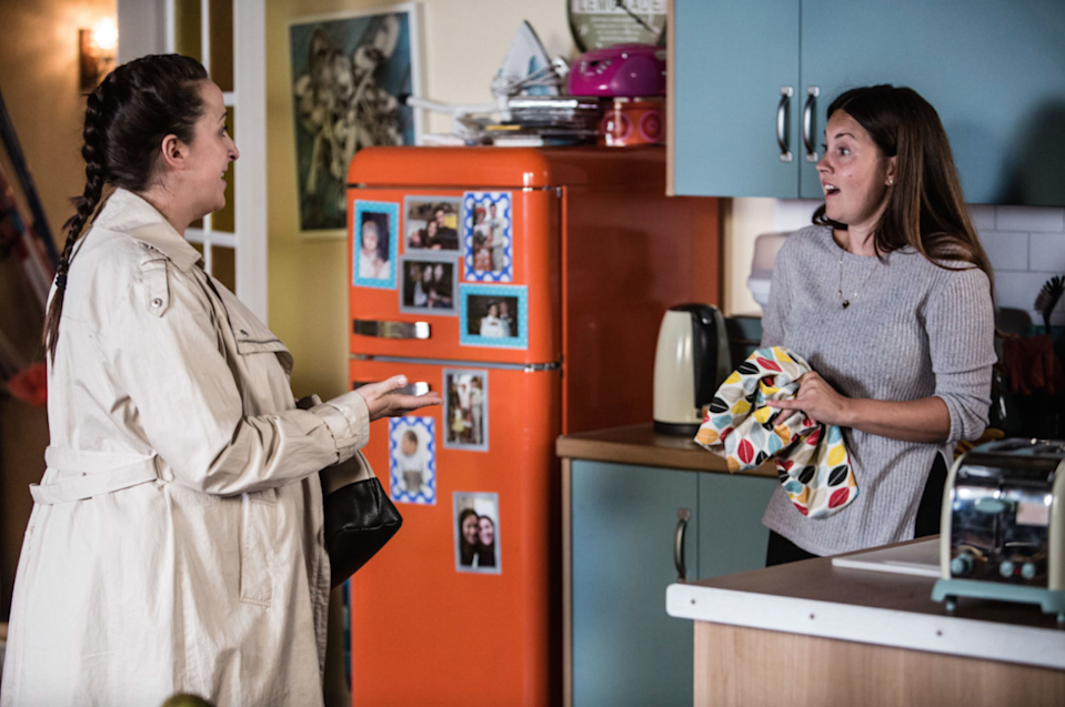 <p>Sonia confides in Stacey about her job and wonders if moving away from her friends would be the right thing for Bex. Stacey offers Sonia a lifeline by suggesting that Bex stay with her and Martin. That's going to be one crowded flat. Martin accuses Sonia of being selfish for leaving Bex.</p>