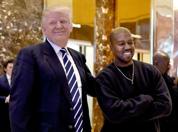 PHOTO: Kanye West and then-President-elect Donald Trump speak with the press after their meetings at Trump Tower, Dec.r 13, 2016 in New York. (Timothy A. Clary/AFP/Getty Images, FILE)