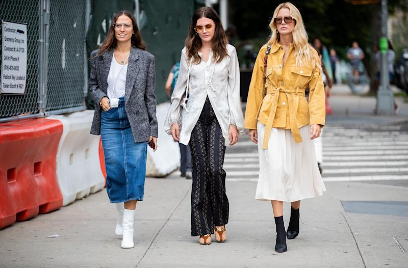 Guests outside Tory Burch during New York Fashion Week in September 2019. (Photo: Getty Images)