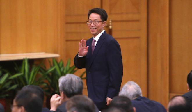 Zhang Xiaoming, director of the State Council's Hong Kong and Macau Affairs Office, meets Hong Kong's pro-establishment elites in Shenzhen on August 7. Photo: Winson Wong