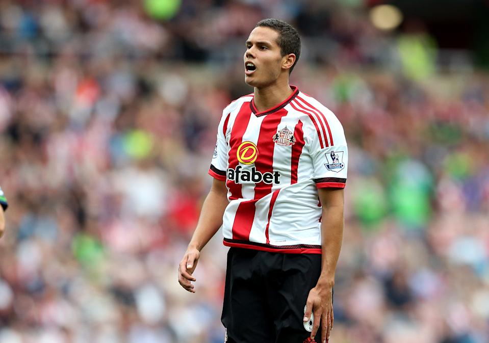 Sunderland's Jack Rodwell during their English Premier League soccer match between Sunderland and Swansea City at the Stadium of Light, Sunderland, England, Saturday, Aug. 22, 2015. (AP Photo/Scott Heppell)