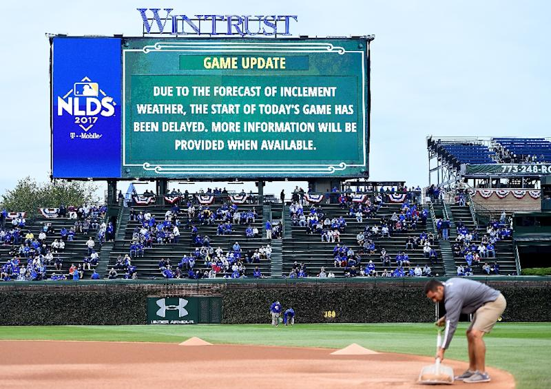 Cubs, Nationals game postponed by rain