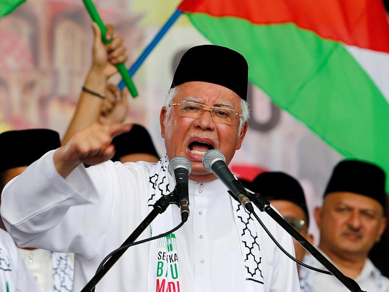 Malaysia's Prime Minister Najib Razak at a rally in December 2017: Reuters