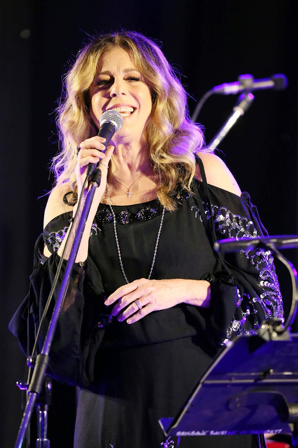 Rita Wilson on stage in Brisbane