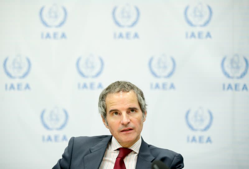 IAEA Director General Grossi during interview with Reuters in Vienna