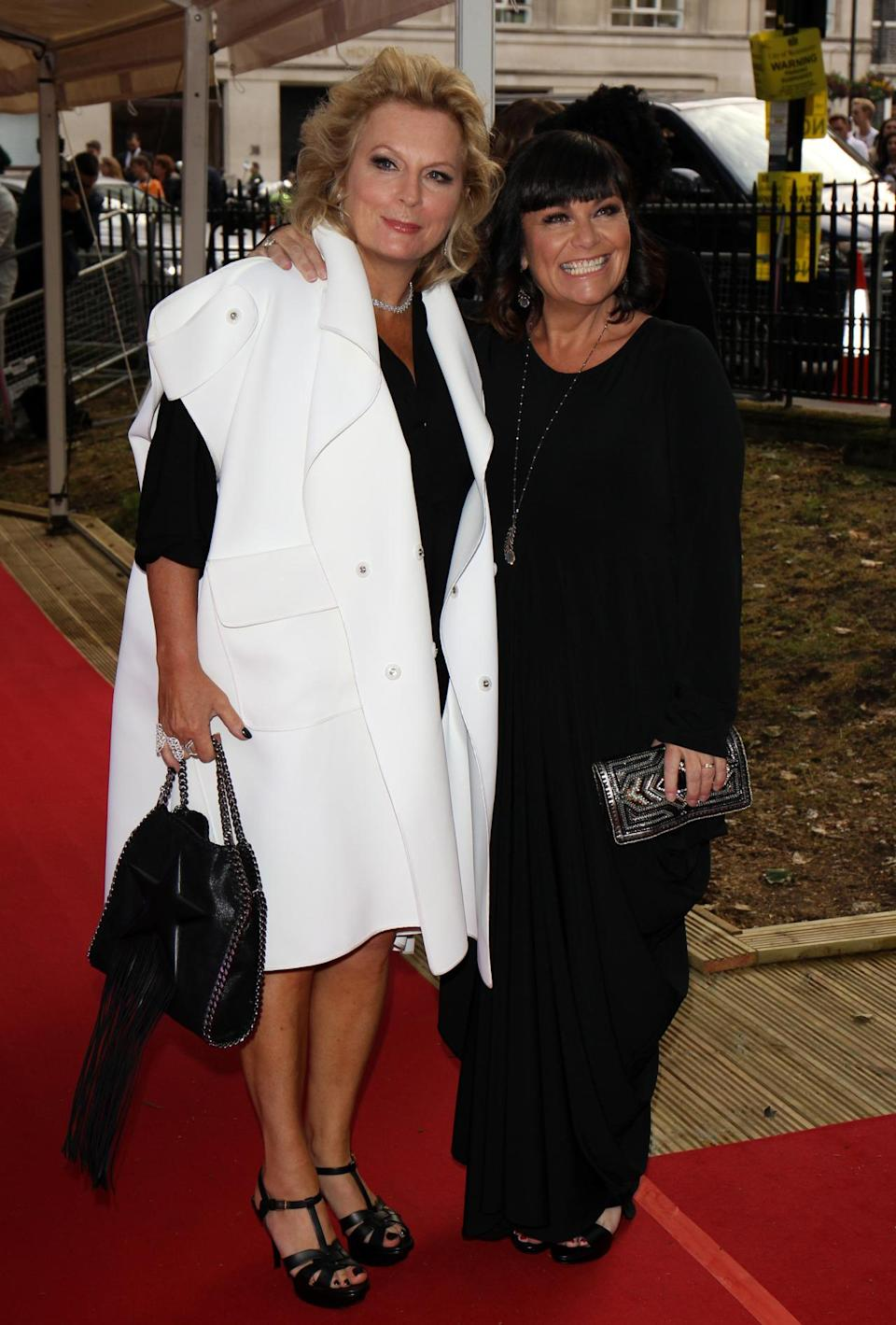 <p>Jennifer Saunders turned up with Dawn French in matching monochrome ensembles. Obviously, the two ditched the Glamour photo call and instead just photobombed Kourtney Kardashian.<i> [Photo: Rex Features]</i><br></p>