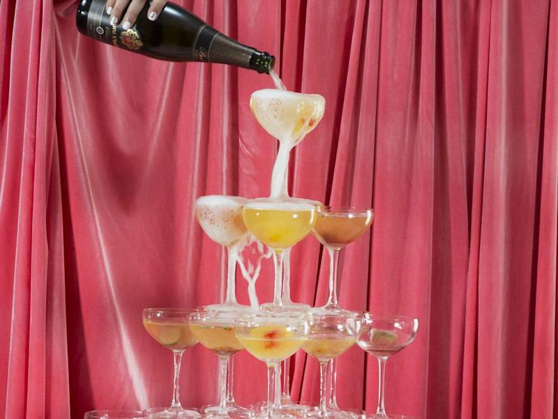 This Cava Cocktail Tower Is The Definition Of Party Goals