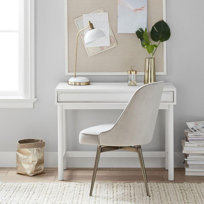 "<br><br><strong>Pottery Barn</strong> Tilden Small Space Desk, $, available at <a href=""https://go.skimresources.com/?id=30283X879131&url=https%3A%2F%2Fwww.pbteen.com%2Fproducts%2Ftilden-small-space-desk%2F"" rel=""nofollow noopener"" target=""_blank"" data-ylk=""slk:Pottery Barn"" class=""link rapid-noclick-resp"">Pottery Barn</a>"