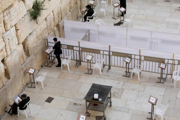 Image: General view shows the plaza of the Western Wall, in Jerusalem