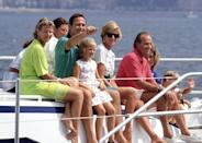 <p>It's a whole gang of royalty! This star-studded clan all took a vacation together, along with their children in 1990. Who's there? Along with Charles and Diana, Princess Elena of Spain, Queen Anne-Marie of Greece, former King Constantine of Greece, Princess Theodora of Greece, Queen Sophia of Spain, and King Juan Carlos of Spain were all invited on the trip to these Spanish islands. </p>