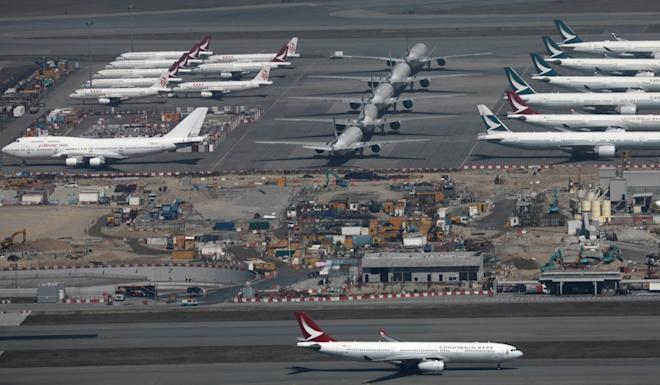 Airlines worldwide have grounded most of their passenger flights. Photo: Sam Tsang