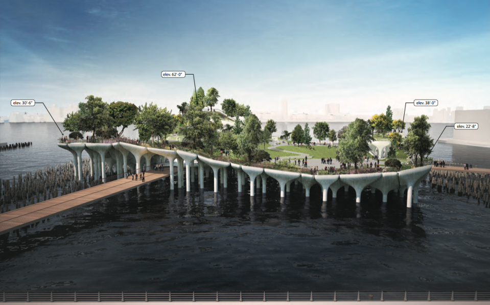 A rendering of Pier 55. Courtesy of Luxigon via Curbed