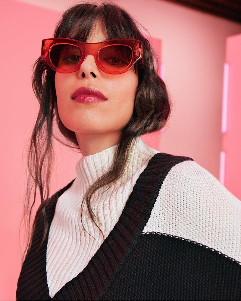 """<strong><h3>Victor Glemaud x Target</h3></strong><br><br><strong>Victor Glemaud x Target</strong> Striped Turtleneck Pullover Sweater, $, available at <a href=""""https://go.skimresources.com/?id=30283X879131&url=https%3A%2F%2Fgoto.target.com%2FLP2qDV"""" rel=""""nofollow noopener"""" target=""""_blank"""" data-ylk=""""slk:Target"""" class=""""link rapid-noclick-resp"""">Target</a><br><br><strong>Victor Glemaud x Target</strong> Round Cateye Sunglasses - Orange, $, available at <a href=""""https://go.skimresources.com/?id=30283X879131&url=https%3A%2F%2Fgoto.target.com%2FP0b9zM"""" rel=""""nofollow noopener"""" target=""""_blank"""" data-ylk=""""slk:Target"""" class=""""link rapid-noclick-resp"""">Target</a>"""