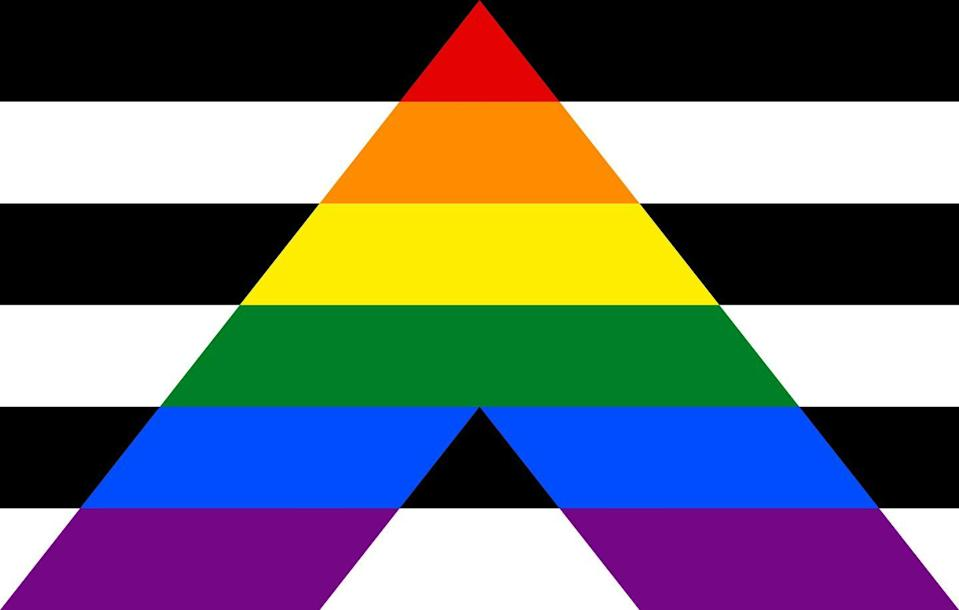 <p>Created in the late 2000s, per UNCO, this flag is meant to acknowledge allies who support those in the LGBTQ+ community and their fight for equality and representation.</p>