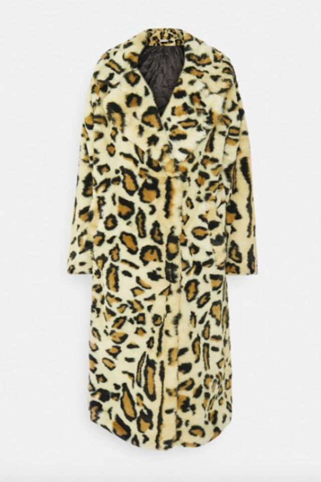 """<p><a class=""""body-btn-link"""" href=""""https://www.zalando.co.uk/na-kd-faux-fur-coat-classic-coat-brown-naa21u01z-o11.html"""" target=""""_blank"""">SHOP NOW</a></p><p>Leopard print never goes out of style so invest for winters to come with this printed option. </p><p>Leopard print coat, £99, <a href=""""https://www.zalando.co.uk/na-kd-faux-fur-coat-classic-coat-brown-naa21u01z-o11.html"""" target=""""_blank"""">Na-kd at Zalando</a></p>"""