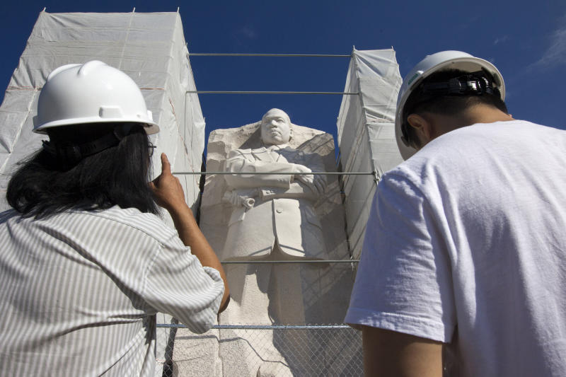 Disputed inscription removed from MLK Memorial