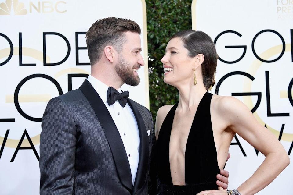 """<p>Triple threat Justin Timberlake and actress Jessica Biel met and started dating in 2007, but the couple hit a speed bump in 2011. After <a href=""""https://people.com/celebrity/justin-timberlake-jessica-biel-split/?xid=popsugar"""" rel=""""nofollow noopener"""" target=""""_blank"""" data-ylk=""""slk:confirming their split"""" class=""""link rapid-noclick-resp"""">confirming their split</a>, Justin still spoke very highly of his then-ex-girlfriend. 'In my 30 years, she is the most special person, okay?' he told <a href=""""https://www.vanityfair.com/news/2011/06/justin-timberlake-on-jessica-biel-britney-spears-and-filming-friends-with-benefits"""" rel=""""nofollow noopener"""" target=""""_blank"""" data-ylk=""""slk:Vanity Fair"""" class=""""link rapid-noclick-resp"""">Vanity Fair</a>. 'I don't want to say much more, because I have to protect things that are dear to me—for instance, her.' By mid-2011, the couple was back together and engaged by December of that year. They got <a href=""""https://www.brides.com/story/jessica-biel-justin-timberlake-wedding-photos"""" rel=""""nofollow noopener"""" target=""""_blank"""" data-ylk=""""slk:married in Italy in 2012"""" class=""""link rapid-noclick-resp"""">married in Italy in 2012</a> and welcomed their son, Silas, three years later.</p>"""