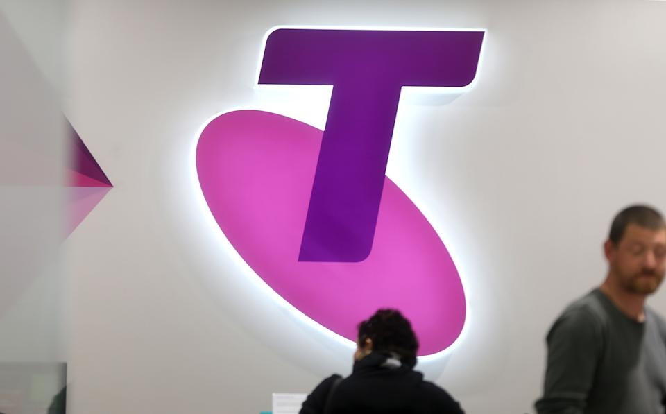 SYDNEY, AUSTRALIA - JULY 24:  A Testra logo seen on a retail space in Sydney's CBD on July 24, 2014 in Sydney, Australia. Telstra's Global Services Devision will be moving 463 existing Telstra roles and 208 contractor jobs to India. Telstra staff were officially informed of the decision yesterday afternoon.  (Photo by James Alcock/Getty Images)