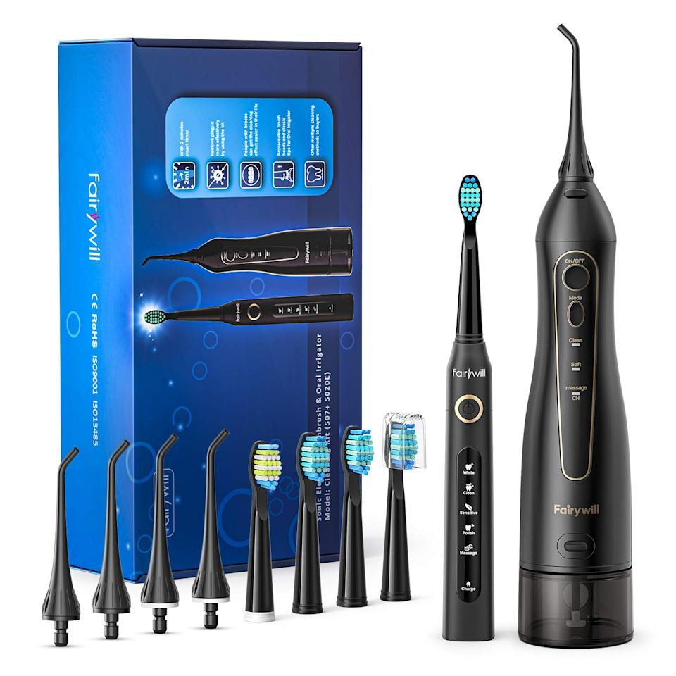 Fairywill Water Flosser And Toothbrush Combo (Photo: Amazon)