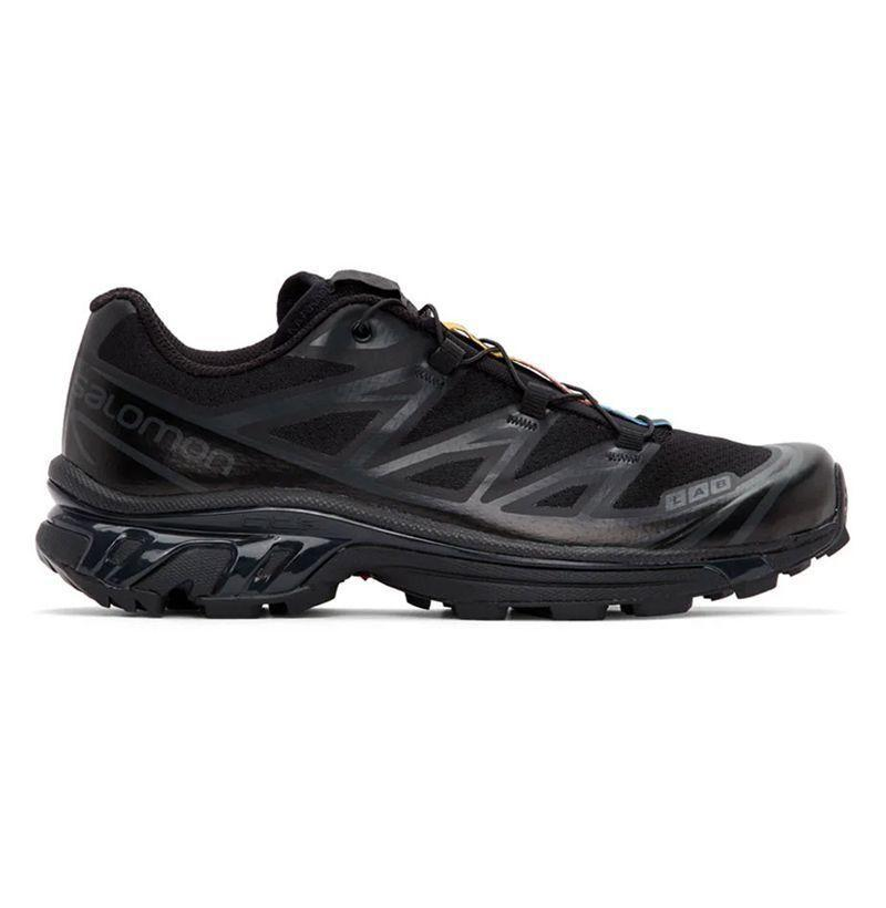 """<p><strong>Salomon</strong></p><p>ssense.com</p><p><strong>$220.00</strong></p><p><a href=""""https://go.redirectingat.com?id=74968X1596630&url=https%3A%2F%2Fwww.ssense.com%2Fen-us%2Fmen%2Fproduct%2Fsalomon%2Fblack-limited-edition-xt-6-adv-sneakers%2F5493311&sref=https%3A%2F%2Fwww.esquire.com%2Fstyle%2Fmens-fashion%2Fg29339512%2Fbest-winter-sneakers%2F"""" rel=""""nofollow noopener"""" target=""""_blank"""" data-ylk=""""slk:Buy"""" class=""""link rapid-noclick-resp"""">Buy</a></p><p>It shouldn't come as much of a surprise that your trustiest hiking shoes can play double-duty as a winter-ready footwear option in a pinch. The same features that made the style such a go-to on your socially-distanced walks this summer will serve you well come any inclement weather, and that's, like, triply true of almost any shoe from Salomon. (Including, say, the brand's beloved XT-6 sneakers, treaded Contragrip® rubber outsoles and all.) </p>"""