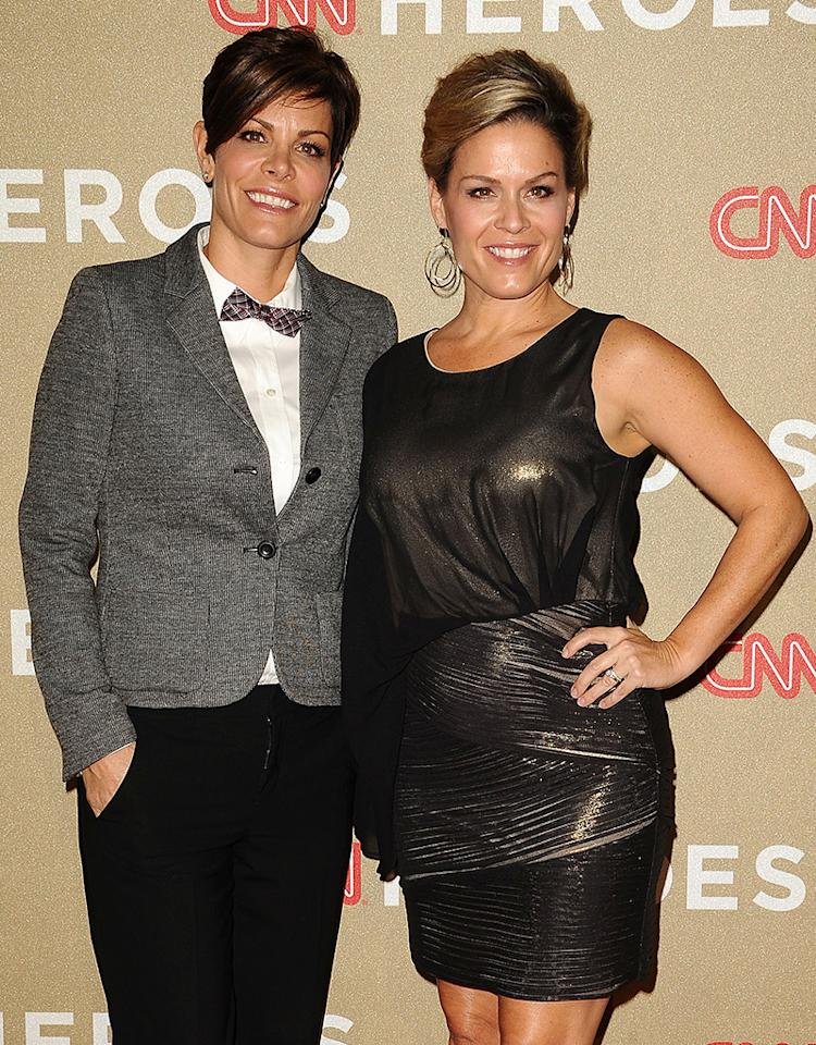 LOS ANGELES, CA - DECEMBER 02:  Chef Cat Cora (R) and Jennifer Cora attend CNN Heroes: An All-Star Tribute at The Shrine Auditorium on December 2, 2012 in Los Angeles, California.  (Photo by Jason LaVeris/FilmMagic)