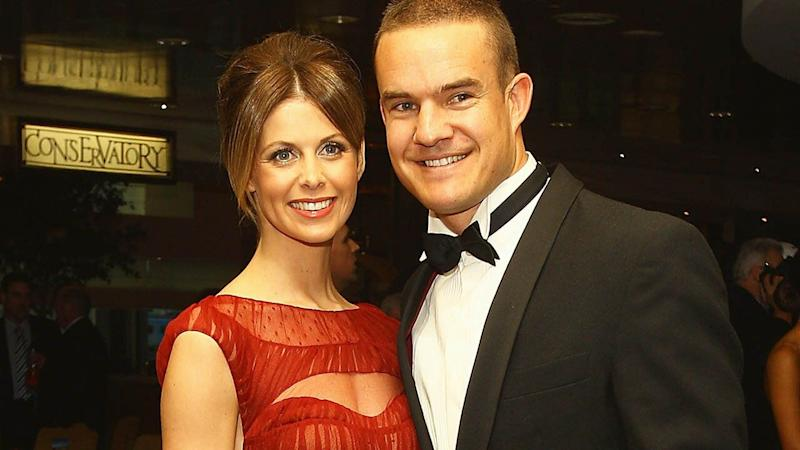 Anna and Brad Green pictured arriving at the 2011 Brownlow Medal night. Pic: Getty