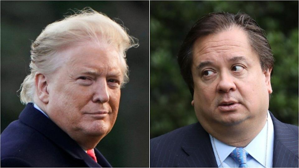 President Donald Trump, and the husband of his White House counselor, George Conway. (Photo: Reuters / Getty)