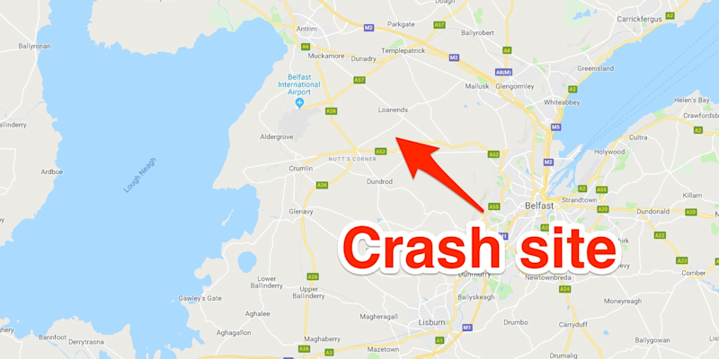Plane crashes near Belfast International Airport