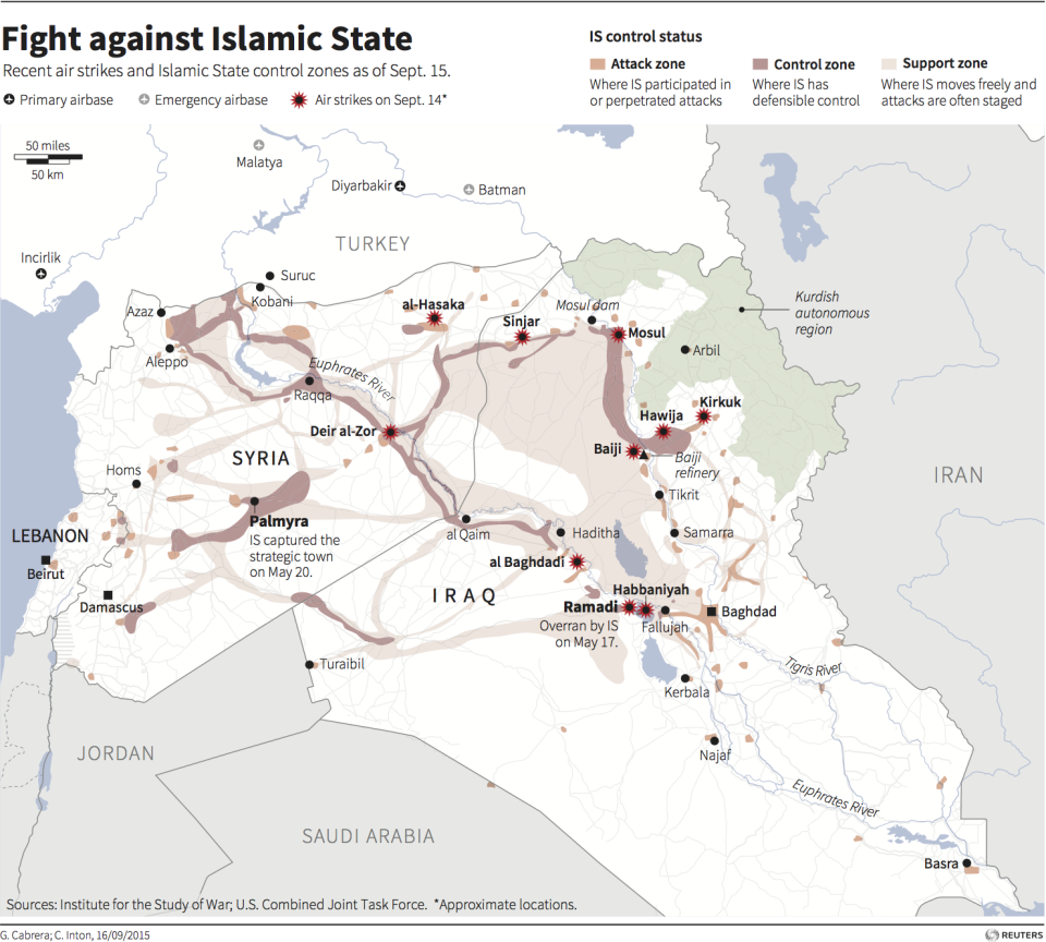 ISIS map