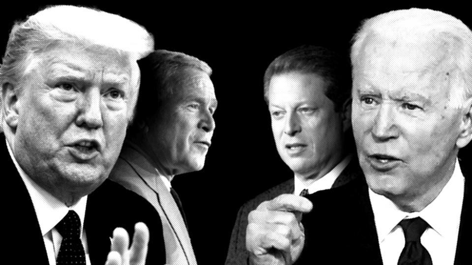 Donald Trump, George W. Bush, Al Gore and Joe Biden