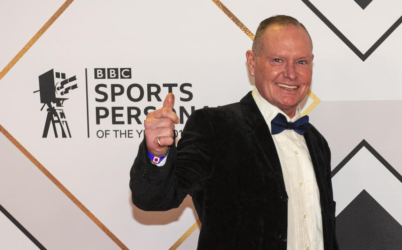 ABERDEEN, SCOTLAND - DECEMBER 15: Paul Gascoigne on the red carpet at the BBC Sports Personality of the Year Awards, at the P&J Live arena on December 15, 2019, in Aberdeen, Scotland. (Photo by Ross MacDonald / SNS Group via Getty Images)