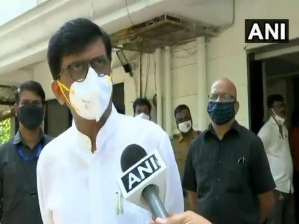 Shiv Sena leader Sanjay Raut speaks to ANI in Mumbai on Friday. (Photo/ANI)