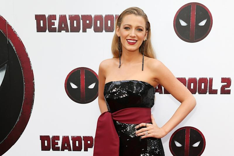 Blake Lively Got a Deadpool -Inspired Manicure
