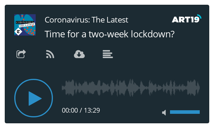 Coronavirus podcast - Time for a two week lockdown?
