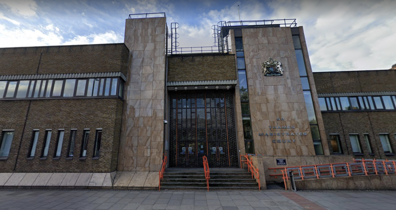 The hearings were held at Thames Magistrates Court. (Google Maps)