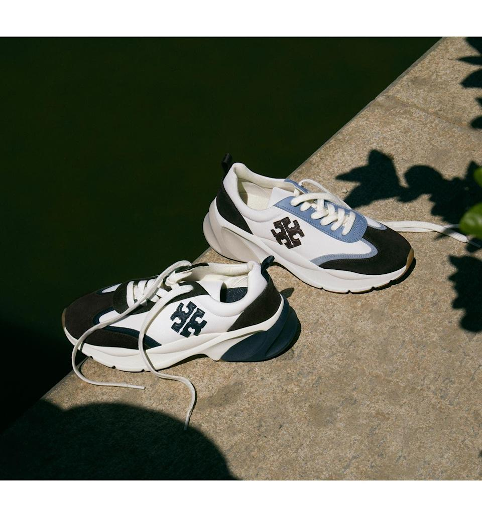 <p>These <span>Tory Burch Good Luck Trainer Sneakers</span> ($278) look so fashionable, thanks to the color patterns and the logo embellishment. They almost look too pretty to take out, but you'll love showing them off.</p>