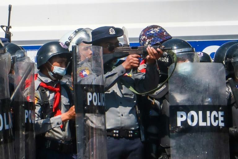 Police in Myanmar have used force on some occasions to disperse protesters