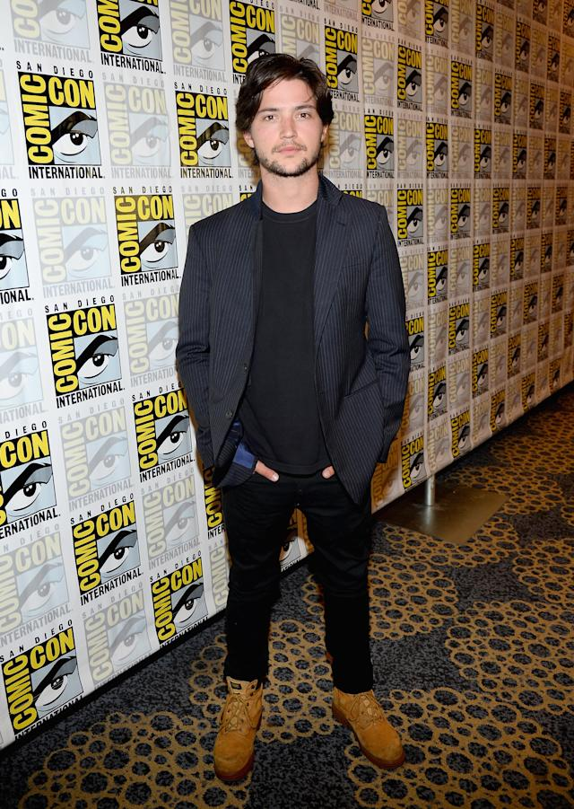 "Thomas McDonell attends ""The 100"" Press Line during Comic-Con International 2013 at Hilton San Diego Bayfront Hotel on July 19, 2013 in San Diego, California."