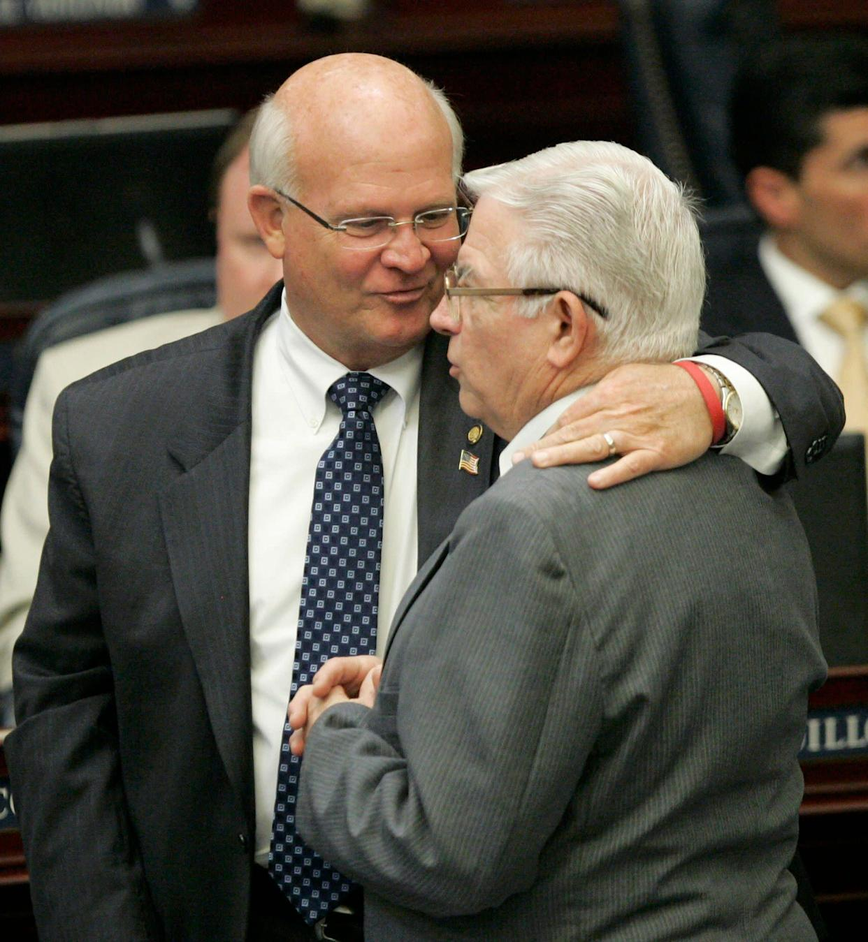 "Baxley, who once sponsored Florida's controversial Stand Your Ground law, <a href=""http://politics.heraldtribune.com/2012/12/17/florida-legislator-allow-guns-in-schools/"" rel=""nofollow noopener"" target=""_blank"" data-ylk=""slk:told the Sarasota Herald-Tribune"" class=""link rapid-noclick-resp"">told the Sarasota Herald-Tribune </a>that keeping guns out of schools makes them a target for attacks. ""We need to be more realistic at looking at this policy,"" he said. ""In our zealousness to protect people from harm we've created all these gun-free zones and what we've inadvertently done is we've made them a target. A helpless target is exactly what a deranged person is looking for where they cannot be stopped."""
